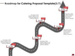 Roadmap For Catering Proposal Five Step Ppt Powerpoint Outline Infographics
