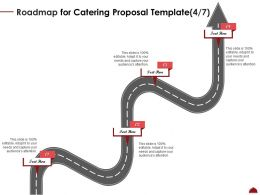 Roadmap For Catering Proposal Four Step Ppt Powerpoint Outline Infographics