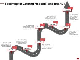 Roadmap For Catering Proposal Seven Step Ppt Powerpoint Graphics Example