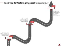 Roadmap For Catering Proposal Three Step Ppt Powerpoint Presentation Portfolio Show