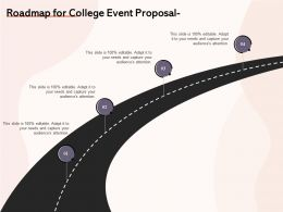 Roadmap For College Event Proposal Ppt Powerpoint Presentation Summary Grid