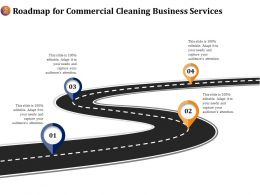 Roadmap For Commercial Cleaning Business Services Ppt File Brochure