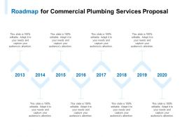 Roadmap For Commercial Plumbing Services Proposal Ppt Powerpoint Presentation Icon Rules