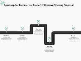 Roadmap For Commercial Property Window Cleaning Proposal Ppt Powerpoint Presentation