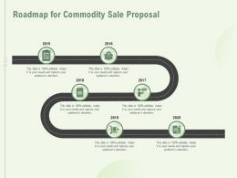 Roadmap For Commodity Sale Proposal Ppt Powerpoint Presentation Styles Deck