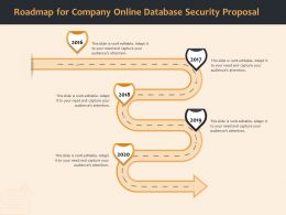 Roadmap For Company Online Database Security Proposal Ppt File Format Ideas