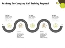 Roadmap For Company Staff Training Proposal Ppt Powerpoint Graphics Download