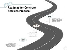 Roadmap For Concrete Services Proposal Ppt Powerpoint Presentation Styles Designs Download