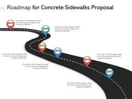 Roadmap For Concrete Sidewalks Proposal Ppt Powerpoint Presentation Background Image