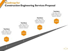 Roadmap For Construction Engineering Services Proposal Ppt Powerpoint Presentation Gallery Good