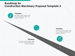 Roadmap For Construction Machinery Proposal Template A1103 Ppt Powerpoint Presentation Model Slideshow