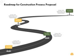 Roadmap For Construction Process Proposal L1494 Ppt Powerpoint Presentation Graphics