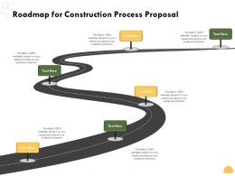 Roadmap For Construction Process Proposal L1496 Ppt Powerpoint Presentation Inspiration