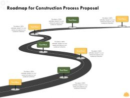 Roadmap For Construction Process Proposal L1497 Ppt Powerpoint Presentation Graphics