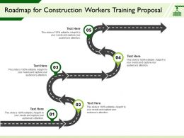 Roadmap For Construction Workers Training Proposal Audiences Attention Ppt Presentation Microsoft