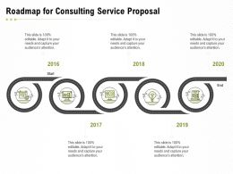 Roadmap For Consulting Service Proposal Ppt Powerpoint Presentation Slides Information