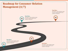 Roadmap For Consumer Relation Management Ppt File Format Ideas