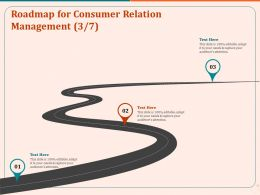 Roadmap For Consumer Relation Management Ppt Layouts