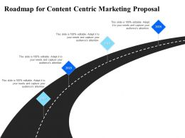 Roadmap For Content Centric Marketing Proposal Ppt Powerpoint Presentation Microsoft