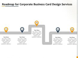 Roadmap For Corporate Business Card Design Services Ppt Inspiration