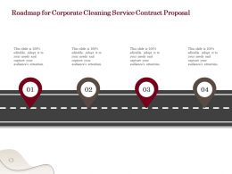 Roadmap For Corporate Cleaning Service Contract Proposal Ppt Powerpoint Tutorials