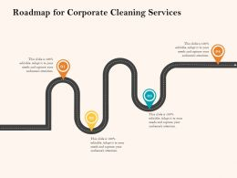 Roadmap For Corporate Cleaning Services Ppt Powerpoint Presentation