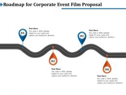 Roadmap For Corporate Event Film Proposal Ppt Layouts