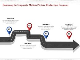 Roadmap For Corporate Motion Picture Production Proposal Ppt Powerpoint Presentation Slides