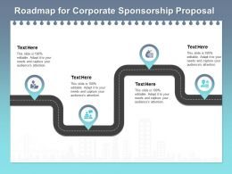 Roadmap For Corporate Sponsorship Proposal Ppt Powerpoint Presentation Pictures