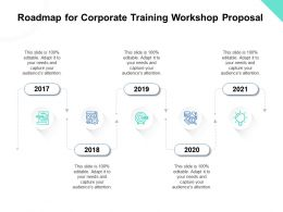 Roadmap For Corporate Training Workshop Proposal Ppt Powerpoint Presentation Summary