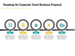 Roadmap For Corporate Travel Business Proposal Ppt File Elements
