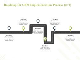 Roadmap For CRM Implementation Process Ppt Powerpoint Presentation Influencers