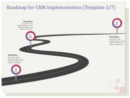 Roadmap For CRM Implementation R130 Ppt File Topics