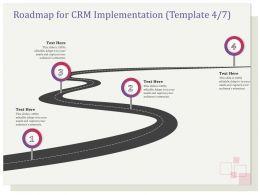 Roadmap For CRM Implementation R131 Ppt File Slides