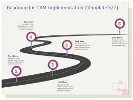 Roadmap For CRM Implementation R132 Ppt File Slides