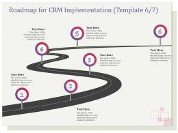 Roadmap For CRM Implementation R133 Ppt File Elements