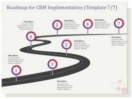 Roadmap For CRM Implementation R134 Ppt Inspiration