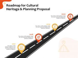 Roadmap For Cultural Heritage And Planning Proposal Ppt File Topics