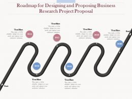 Roadmap For Designing And Proposing Business Research Project Proposal Ppt Outline