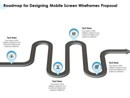 Roadmap For Designing Mobile Screen Wireframes Proposal Ppt Powerpoint Style Model