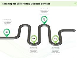 Roadmap For Eco Friendly Business Services Ppt Powerpoint Presentation Gallery Layout Ideas