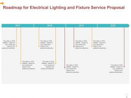 Roadmap For Electrical Lighting And Fixture Service Proposal Ppt Powerpoint Presentation Styles Design Templates
