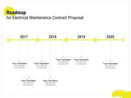Roadmap For Electrical Maintenance Contract Proposal Ppt Powerpoint Infographics
