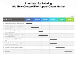 Roadmap For Entering Into New Competitive Supply Chain Market