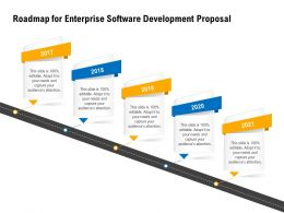 Roadmap For Enterprise Software Development Proposal 2017 To 2021 Years Ppt Powerpoint Presentation Picture