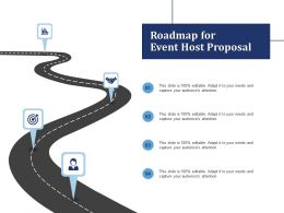 Roadmap For Event Host Proposal Ppt Powerpoint Presentation Inspiration Images