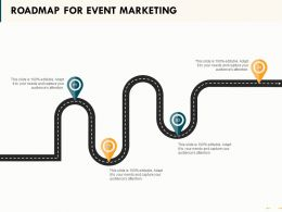 Roadmap For Event Marketing Ppt Powerpoint Presentation Summary Model
