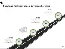 Roadmap For Event Video Coverage Services Ppt Powerpoint Presentation File Example Topics