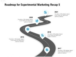 Roadmap For Experimental Marketing Recap 5 Ppt Powerpoint Presentation Infographics Inspiration