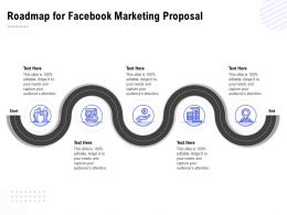 Roadmap For Facebook Marketing Proposal Ppt Powerpoint Presentation Visual Aids Show